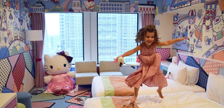 Japan family accommodation: Hello Kitty Room