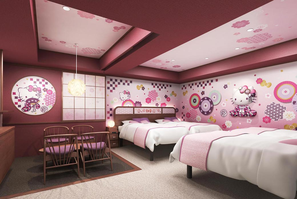 Asakusa Tobu Hotel's hello kitty room one of the quirky hotels in Tokyo