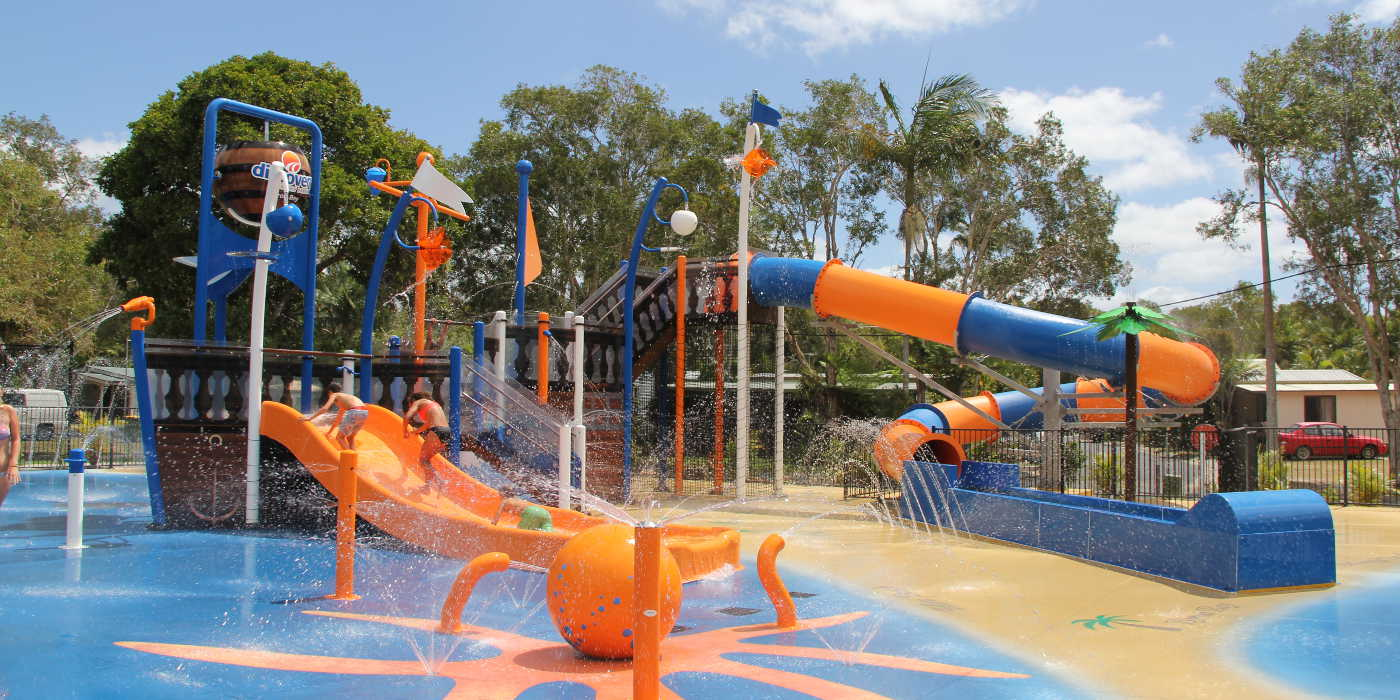 Byron Bay discovery park waterslides