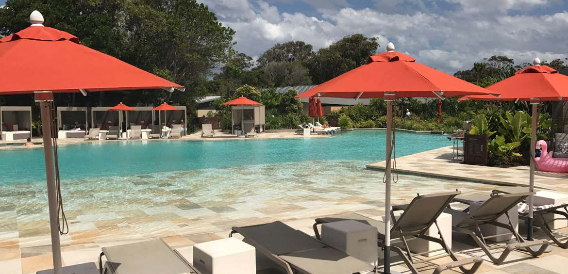 Elements of Byron, Byron bay by Family travel blogger: pool
