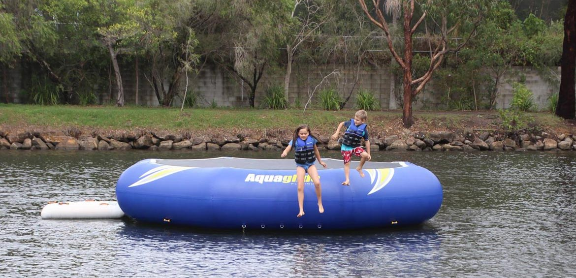 BIG4 Tweed Billabong holiday park water trampoline