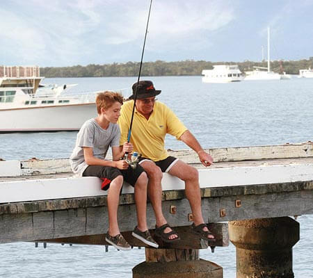 Jetty at Jacobs Well Tourist Park