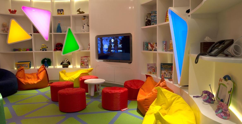 Kids Room in Etihad Airways First Class Lounge & Spa