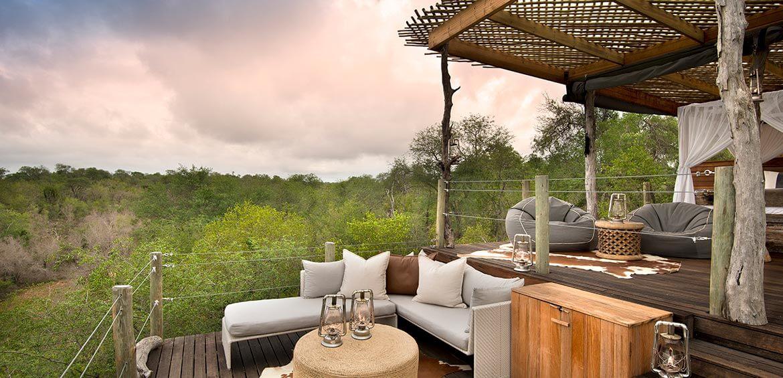 Lounge area at Kingston Treehouse