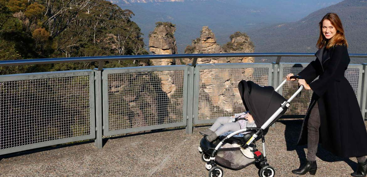 Blue mountains with baby: Climbing with stroller