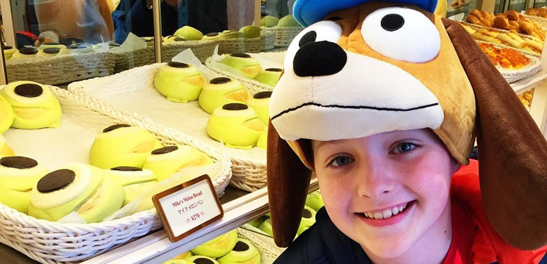 Mike's melon bread at Tokyo Disneyland