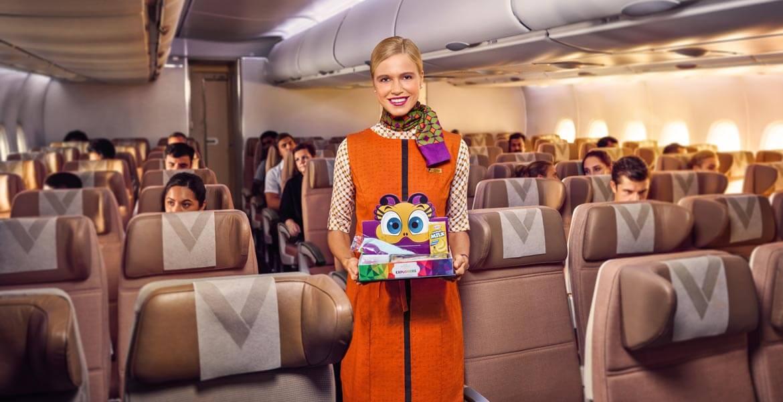 Nanny onboard Etihad Airways