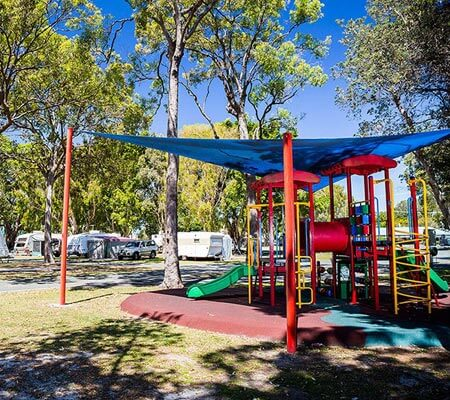 Playground at Jacobs Well Tourist Park