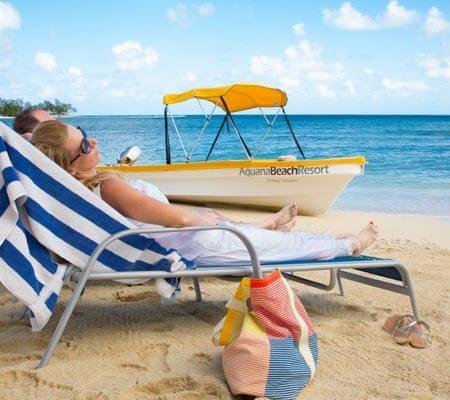 Relaxing at Aquana Beach Resort
