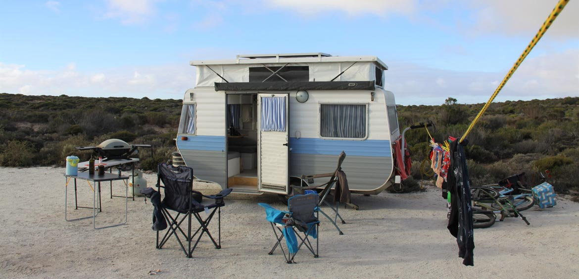 Car-camping and caravanning road trips