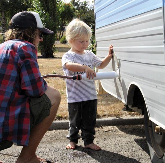 Car-camping and family road trip camping