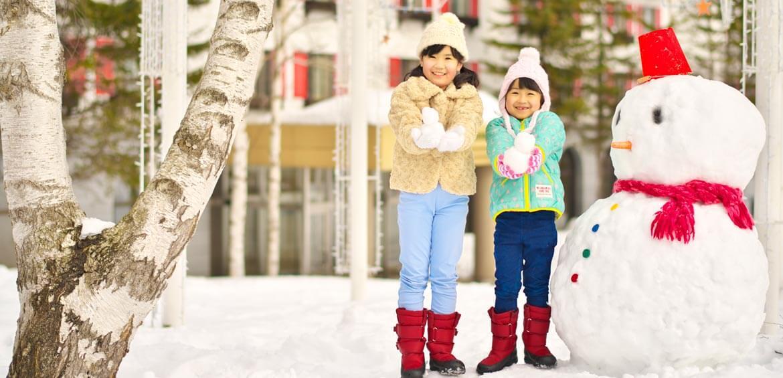 Snow man at Rusutsu Resort