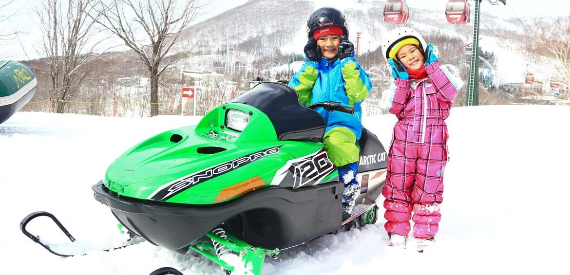 Snow mobile at Rusutsu Resort