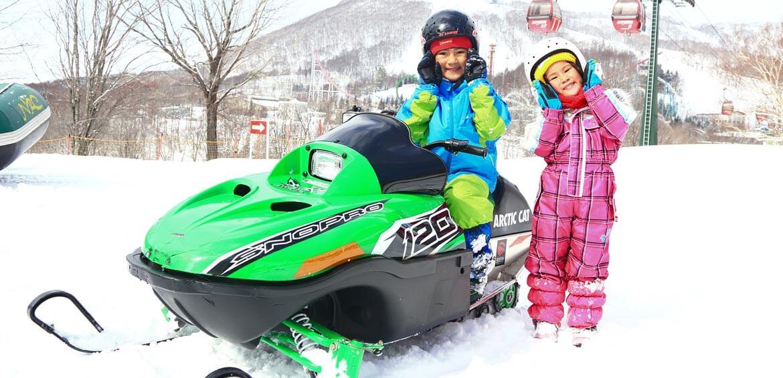 Snow mobile at Rusutsu Resort