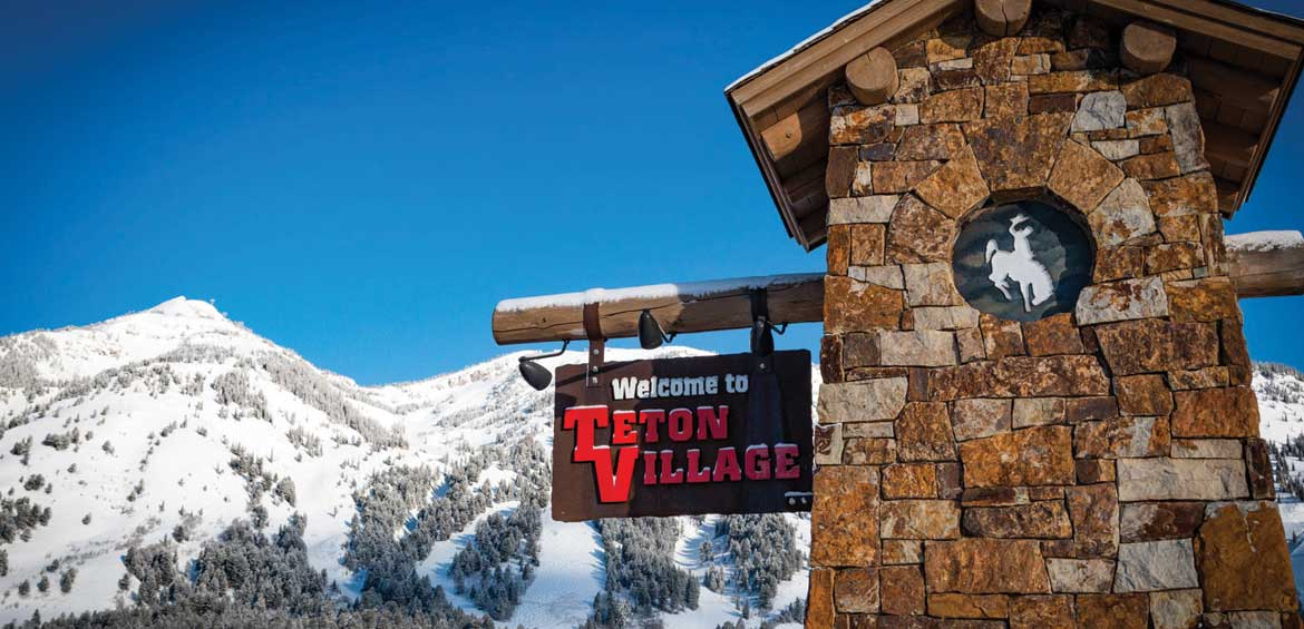 Teton Village has a great Western feel at Jackson Hole