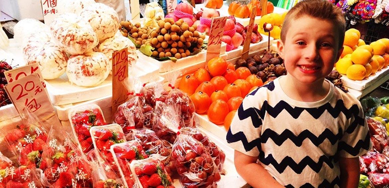Fruit market tour Hong Kong - things to do with kids in hong kong