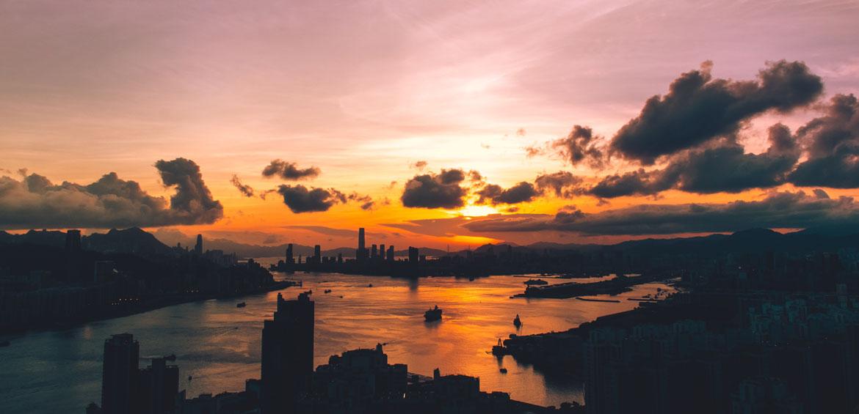hong kong skyline china