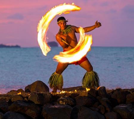 Fire Knife Dancer Sheraton Samoa Beach Resort