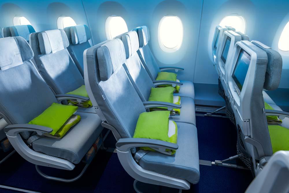 Finnair A350 economy class cabin © Finnair