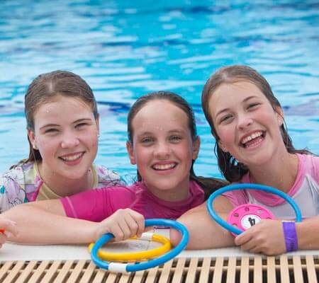 Girls swimming at Queensland Recreation Centres