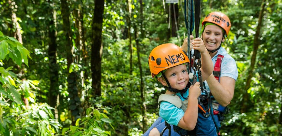 High ropes at Jungle Surfing Canopy Tours
