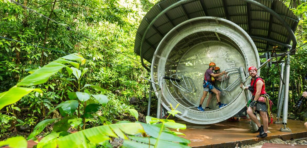 Jungle Surfing Canopy Tours turning wheel