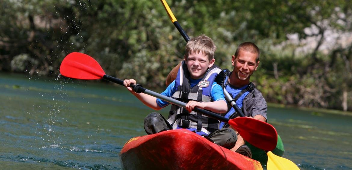 Kayaking tours with Peregrine Adventures