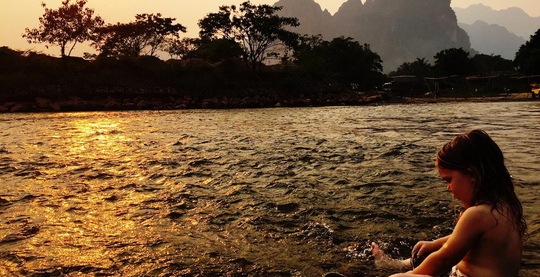 Laos sunset