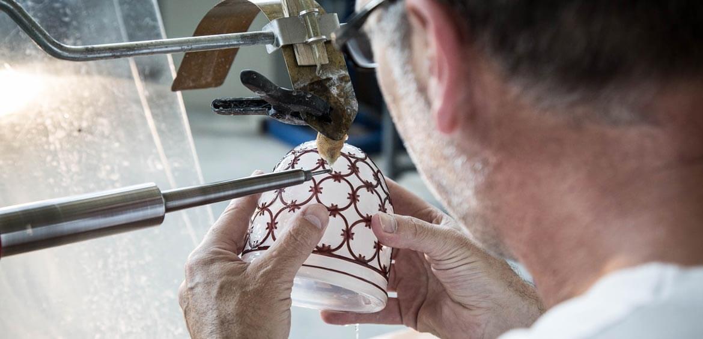 Mug making at Canberra Glassworks