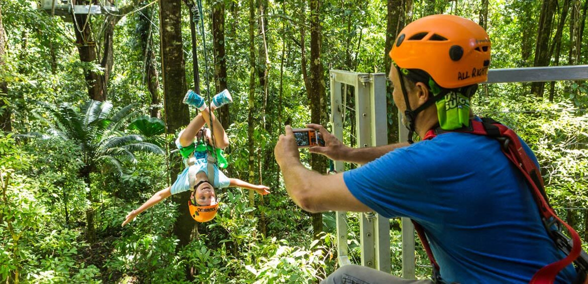 Picture time at Jungle Surfing Canopy Tours