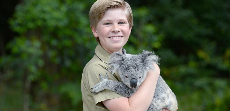 Robert Irwin and Koala at Australia Zoo