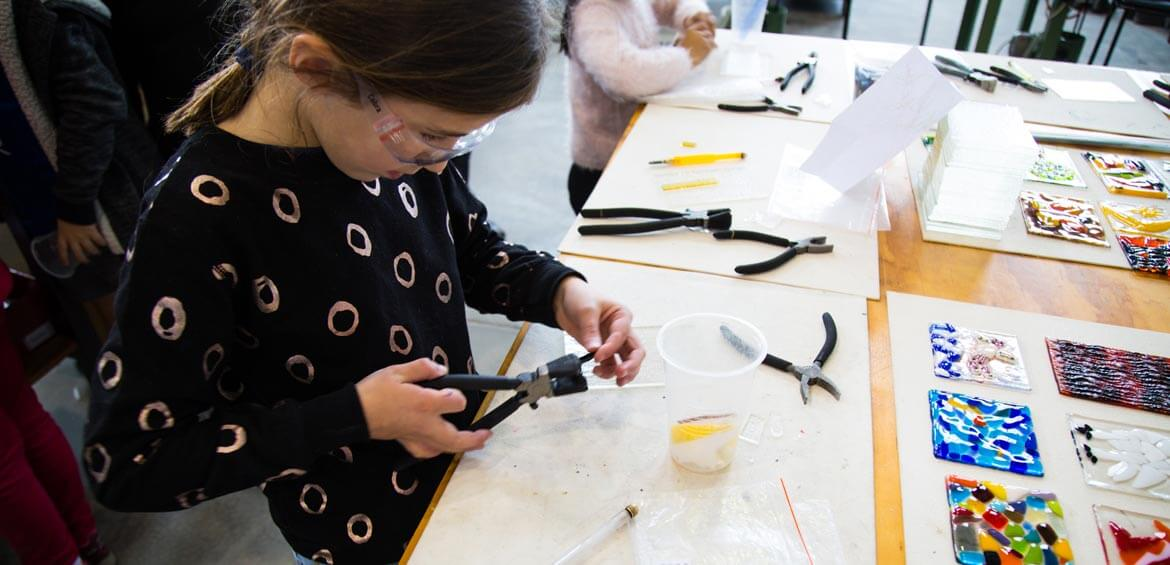 School holiday activities at Canberra Glassworks