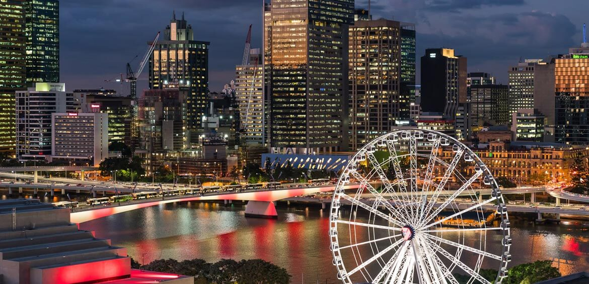 The Wheel of Brisbane at night