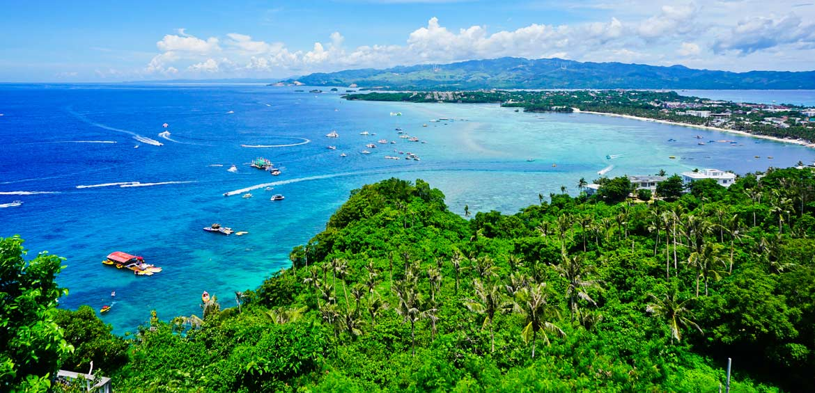 View from Mt Luho Viewpoint Boracay Aklan Malay Philippines