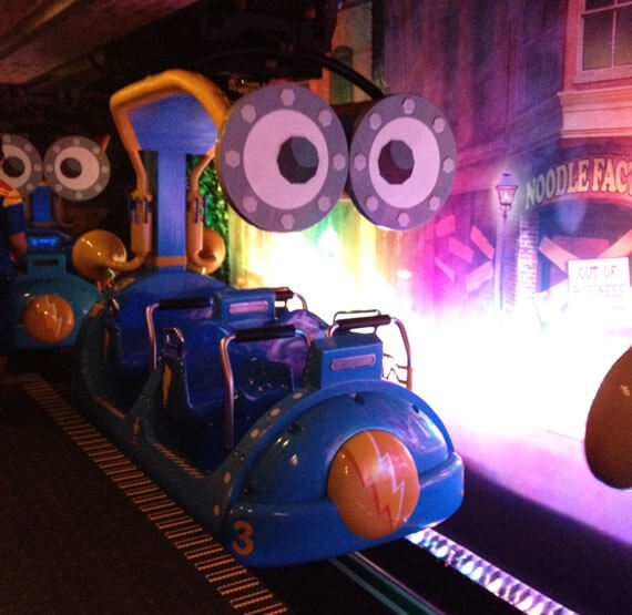 On the world's first immersive Sesame Street ride