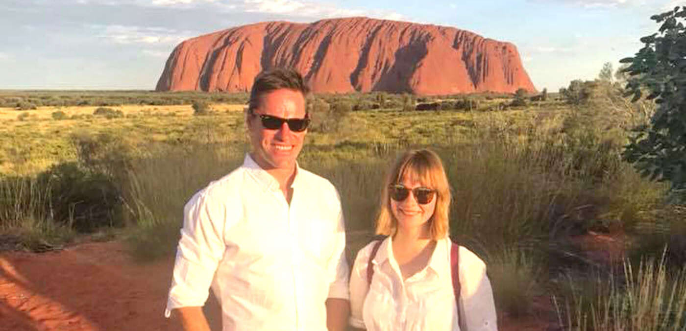 Andrew and Serena at Uluru Northern Territory