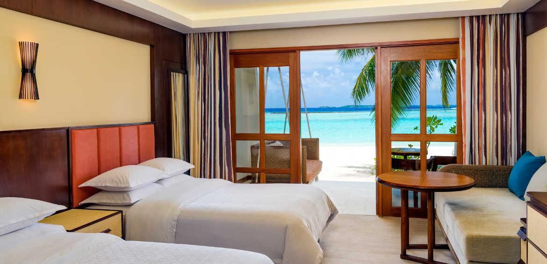 Sheraton Full Moon Resort and Spa Maldives bedroom
