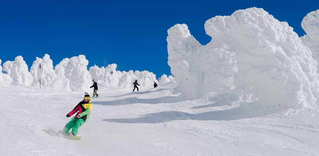 Snow Monsters at Zao Onsen Ski Resort © Tohoku Tourism