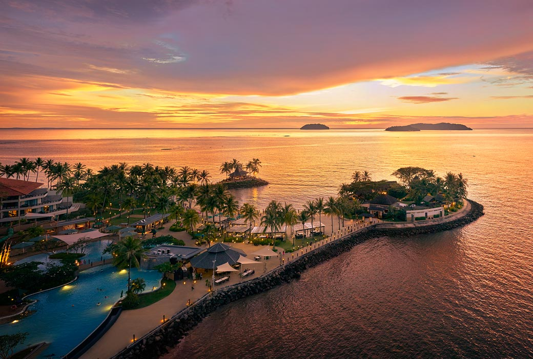 Aerial view of Shangri-La's Tanjung Aru Resort & Spa