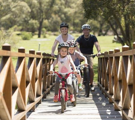 Bike riding at Lake Crackenback Resort & Spa