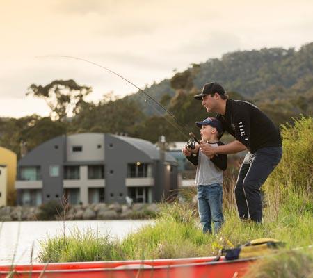 Fishing at Lake Crackenback Resort & Spa