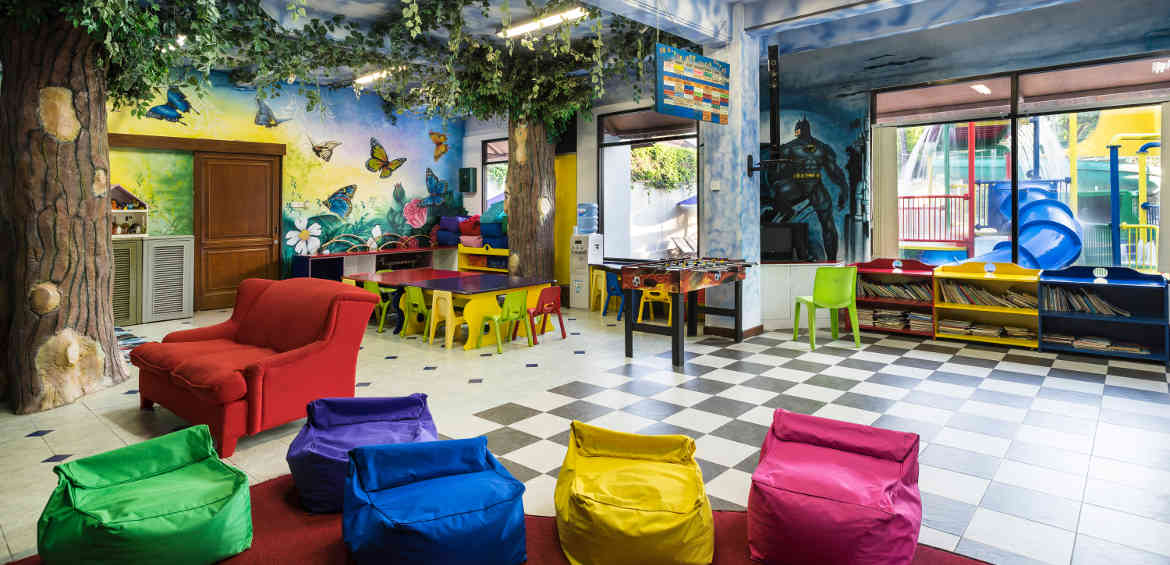 The colourful kids' club at Bali Dynasty Resort Hotel