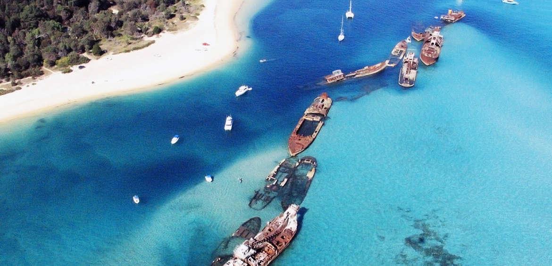 Moreton Island shipwrecks