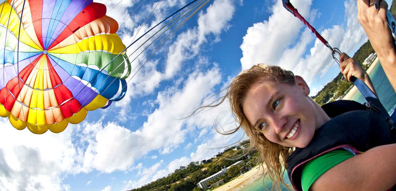 Windsurfing on Moreton Island