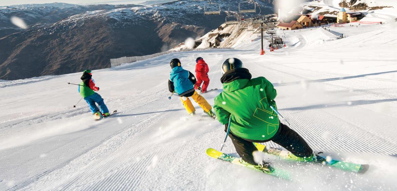 Skiing in Cardrona