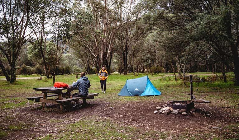 Geehi Flats snowy camp site