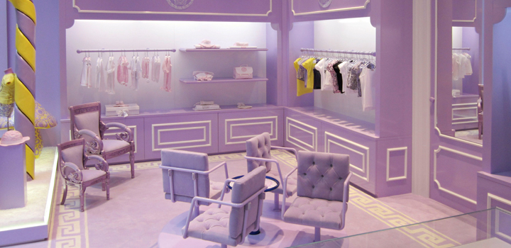 The Young Versace store in Milan
