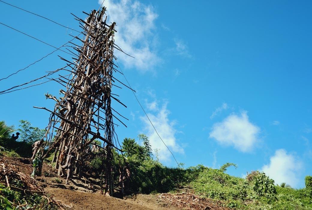 Land diving ceremony on Pentecost Island