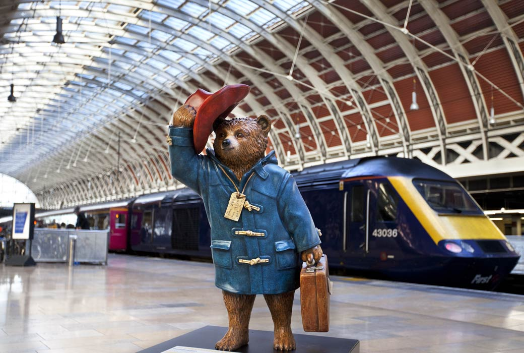 Paddington Bear - situated in Paddington Station in London