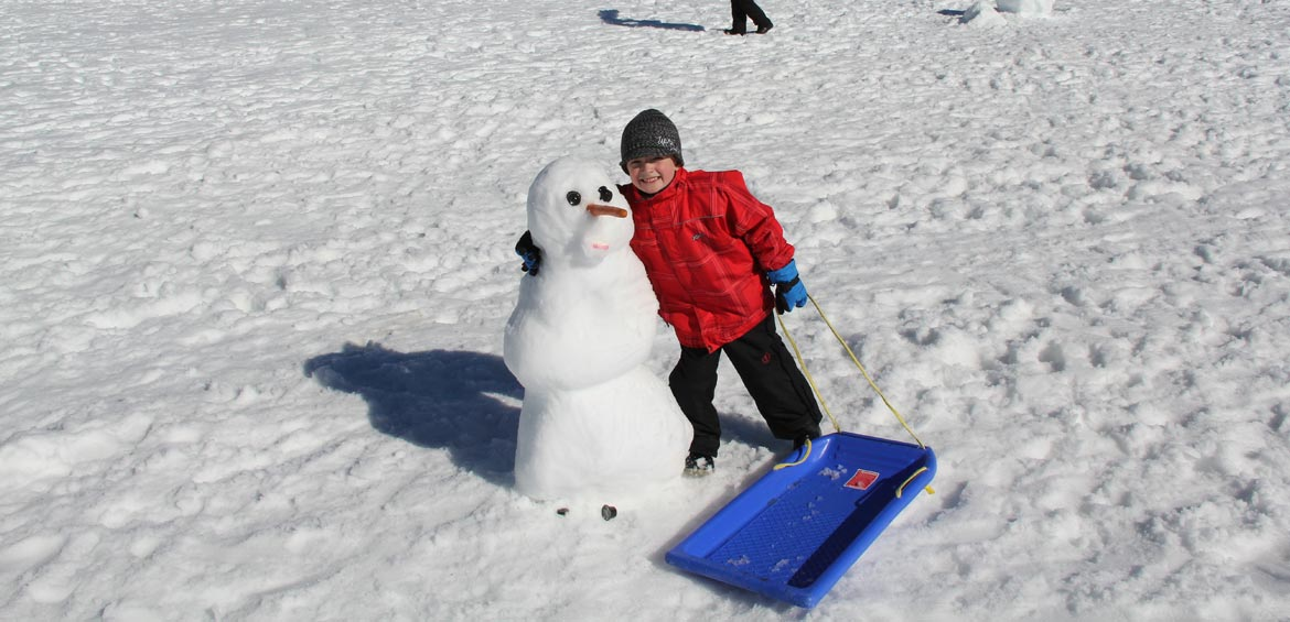Snowman and Child